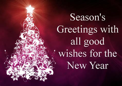 season s greetings with all good wishes for the new year