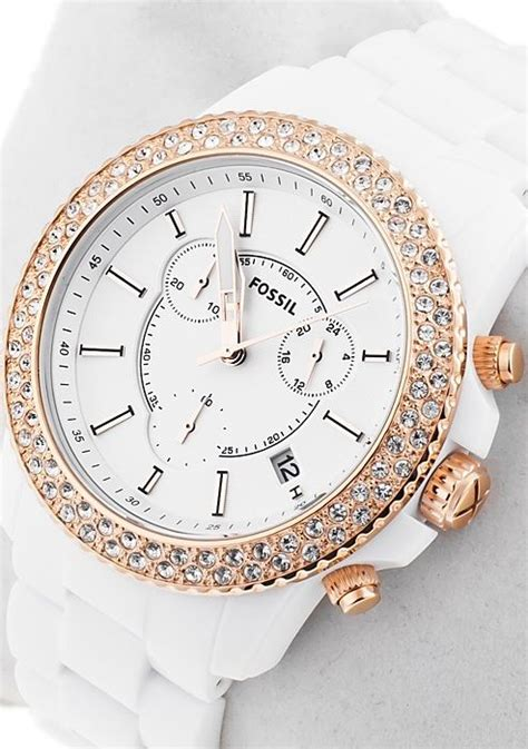 fossil white and gold chronograph ch2716 accessories