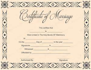 marriage certificate template free printable marriage certificate template ebook database