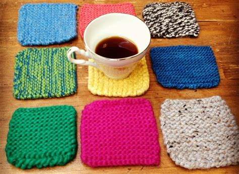 knitting ideas for presents gift ideas knitted coasters huffpost