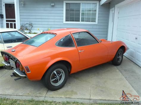 Opel Gt Kit by Vintage 1972 Orange Opel Gt Sports Car Baby Corvette
