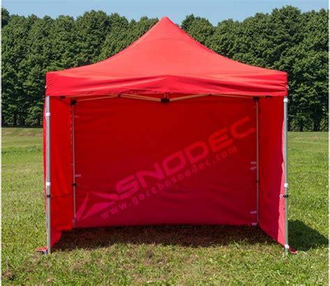 gazebo pieghevoli prezzi gazebo pieghevole 3x3 rosso acciaio 30mm con teli laterali