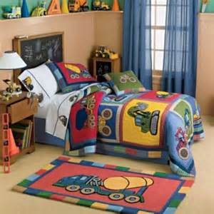 Tonka Toaster Tractor Trucks Bedding Set 5pc Construction Set Twin Bed