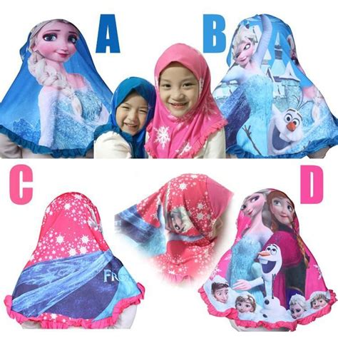 tutorial hijab elsa frozen online cheap 2015 new baby frozen muslim hijab children
