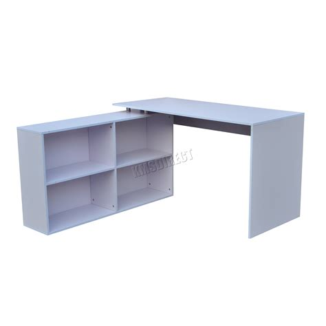 l shaped work desk foxhunter l shaped corner computer desk pc table home work