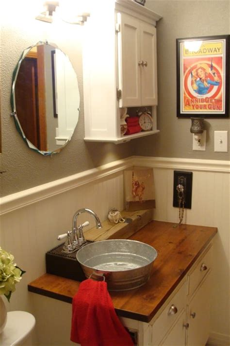 bungalow bathroom farmhousewestern style