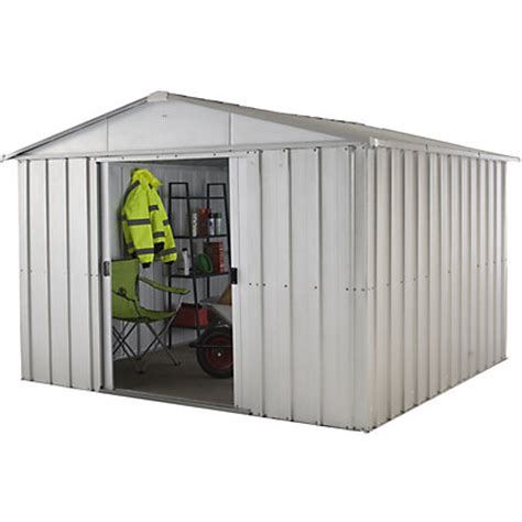 Home Base Garden Sheds by Yardmaster Apex Roof Metal Shed 10x10ft At Homebase Be Inspired And Make Your House A Home