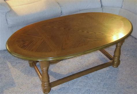 Oval Wooden Coffee Table Oval Coffee Table With Wood Inlay Grandmother S Attic