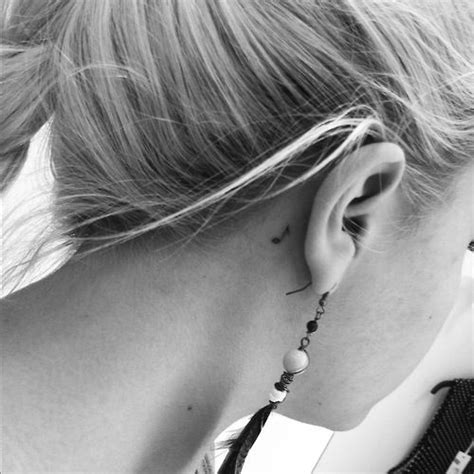tattoo behind ear easy to hide wanttt music note tattoo behind the ear tat up
