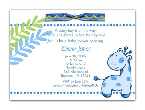 free baby boy shower invitations templates free baby invitation template free baby shower