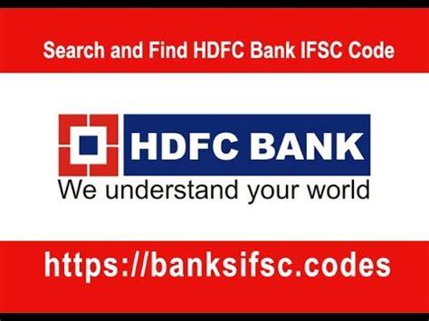 bank ifs hdfc bank ifsc code