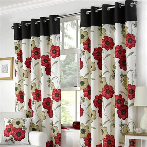 poppy curtains poppy red eyelet curtains harry corry limited