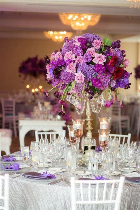 wedding table decoration ideas purple purple wedding ideas with pretty details modwedding