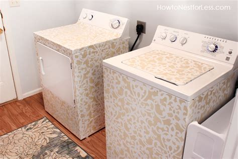 washer and dryer cover ups before and after of kitchen washer and dryer area cover washer and laundry room makeover reveal how to nest for less