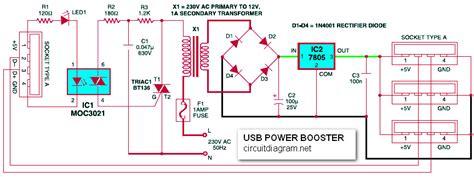 usb power booster  pc laptop circuit scheme