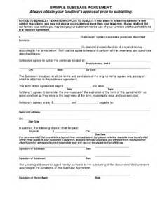 basic sublease agreement fill online printable