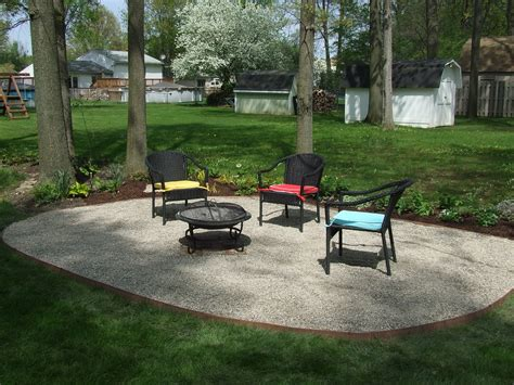 gravel backyard backyard patio ideas with gravel design landscaping