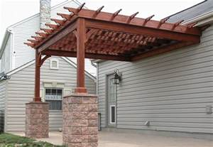How To Build A Pergola Attached To The House by Custom Pergolas Backyard Amp Beyond