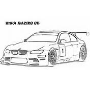 BMW Car  Racing GT Coloring Pages