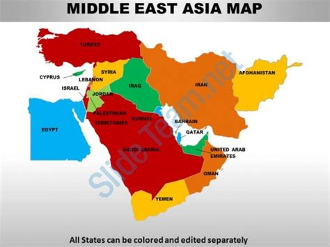 middle east map continent middle east asia continents powerpoint maps