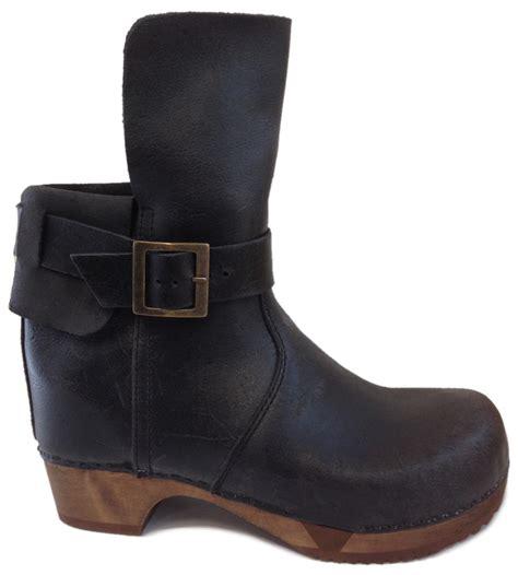 Country Boots Original Handmade Brown Black sanita flex wooden clog boots 454310