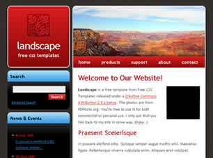 page layout css landscape landscape free website template free css templates