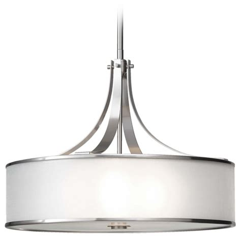 drum pendant light drum pendant light with silver shade in brushed steel