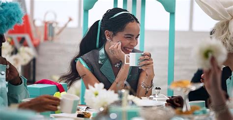zoe kravitz tiffany jewelry zo 235 kravitz stars in tiffany s holiday video the adventurine