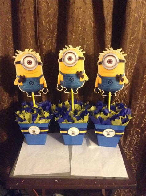 Minion Centerpiecesntact Me On Instagram By Nata Or