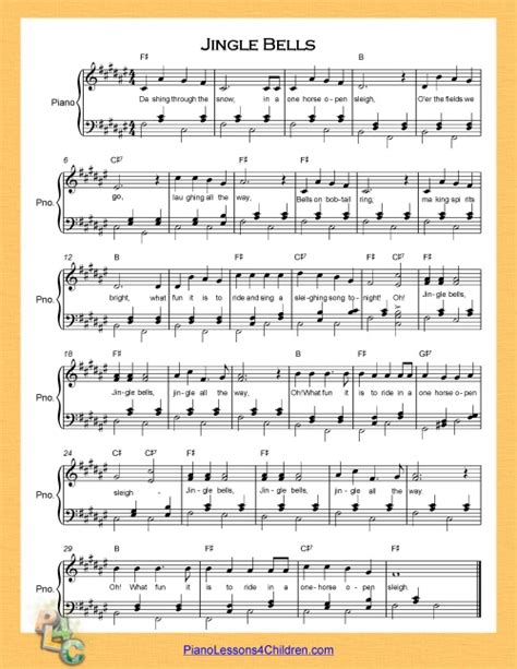 tutorial piano jingle bells jingle bells lyrics videos free sheet music for piano