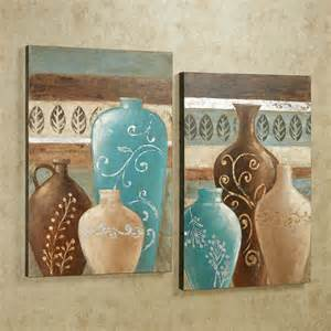 Different Shapes Of Vases Exotic Vases Handpainted Canvas Wall Art Set