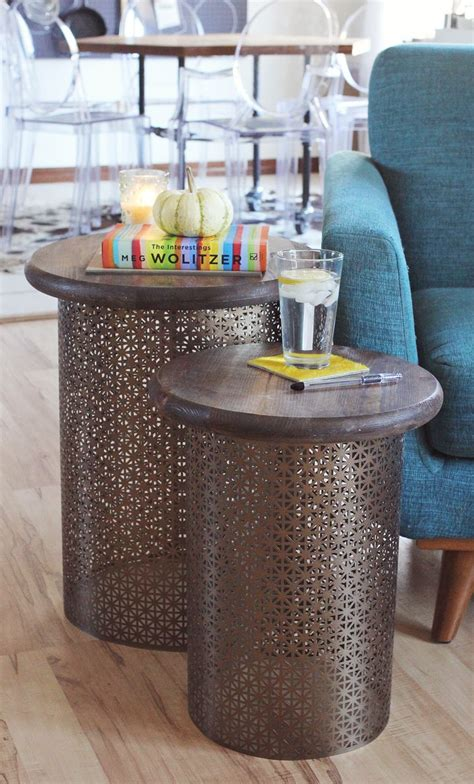 Diy Side Table by Diy Brass Side Tables A Beautiful Mess