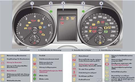 Kontrollleuchten Auto Vw Golf 6 kontrollleuchten vw golf 6 anzeige im cockpit vw golf