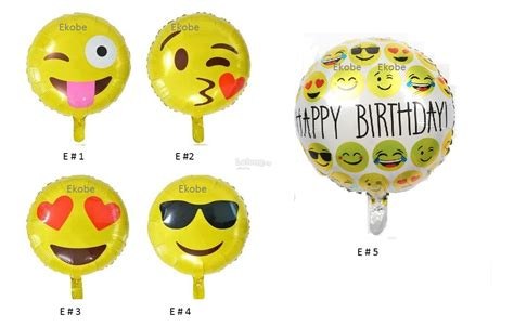 Balon Foil Emoji Birthday 18 inch emoji foil balloon happy bi end 4 14 2017 10 22 pm