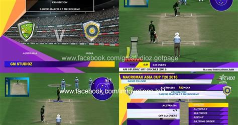 B Ng X P H Ng World Cup 2018 Asia Cup T20 2016 Overlay Menu By Gm Studioz Released