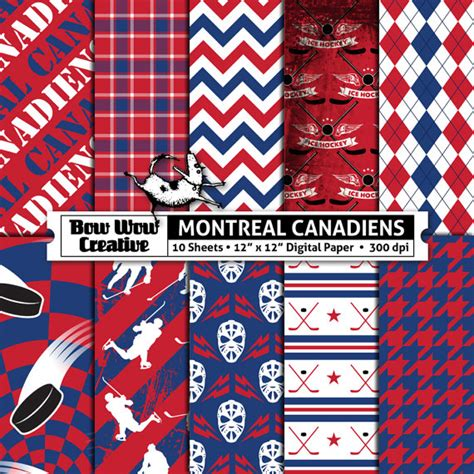 Pattern Paper Montreal | 10 montreal canadiens digital papers for scrapbooking