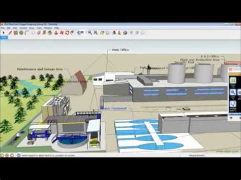 java river layout 3d layout pla plant featuring with google sketchup 8 youtube
