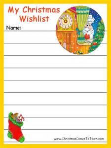 Printable christmas wish lists christmas printables