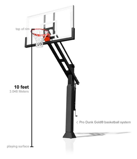 what is the regulation height of a basketball goal?
