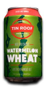 tin roof ale abv tin roof not sweet watermelon wheat ratebeer