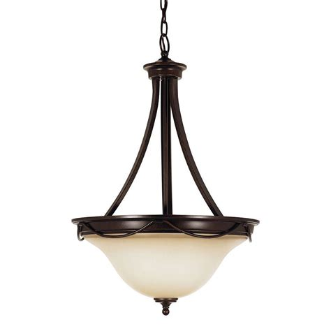 Cafe Pendant Light Sea Gull Lighting Park West 3 Light Burnt Pendant With Cafe Tint Glass 65497 710 The