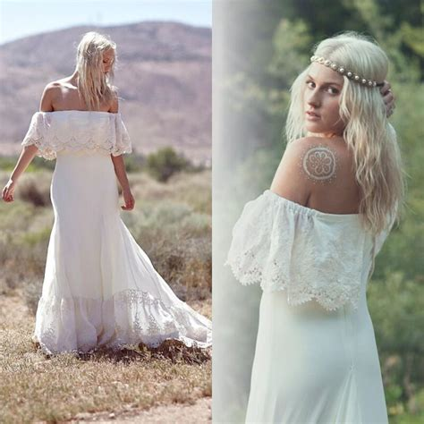 Discount Casual Wedding Dresses by Discount 2015 New Bohemian Wedding Dresses Casual Boho