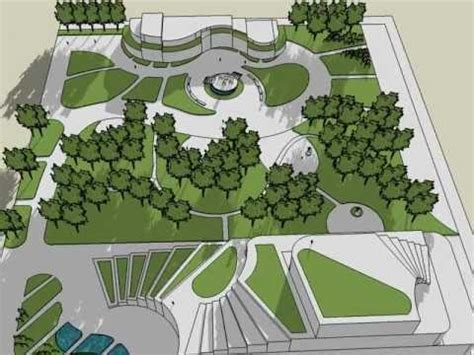landscape layout sketchup landscape architects garden design sketchup youtube