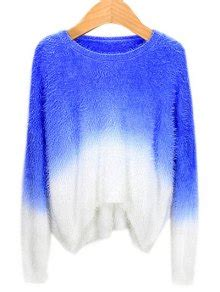 Ombre Mohair Sweater Black ombre mohair sweater sapphire blue sweaters one size zaful