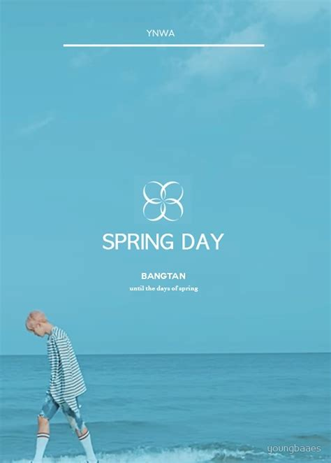 bts spring day quot bts spring day 2 quot by youngbaaes redbubble