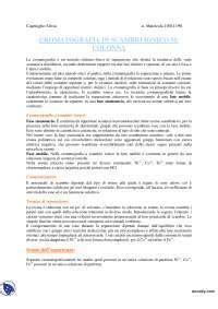 Chimica Analitica Dispense by Cromatografia Chimica Analitica Docsity