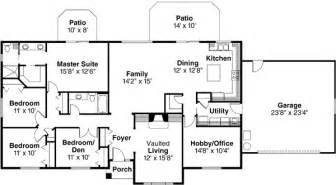 4 Bedroom Ranch Style House Plans Ranch Style House Plans 2086 Square Foot Home 1 Story