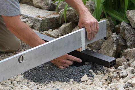 verlegen terrassendielen terrassendielen verlegen in unterbau fundamentierung zeit
