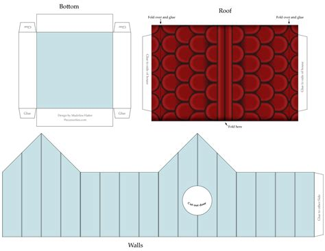 paper craft for printable best photos of cardstock birdhouse templates gingerbread