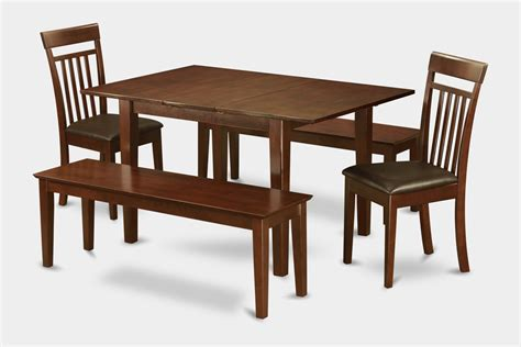 Dining Table And Chairs For Small Spaces 5 Dinette Set For Small Spaces Tables And 2 Dining Chairs And 2 Benches Ebay